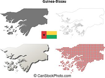 Guinea-Bissau outline map set - Guinea-Bissau blank detailed...