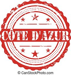 Cote DAzur Grunge Badge