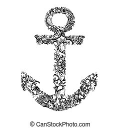 Anchor - graphic anchor isolated on wite
