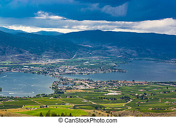 Osoyoos British Clumbia Canada and Osoyoos Lake - Osoyoos...