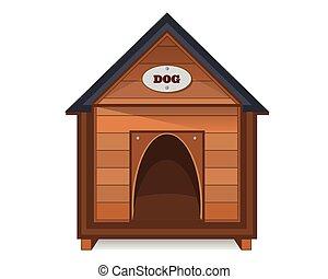 Dog House Isolated on White