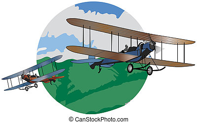 Barnstorming illustration - Illustration graphic style with...