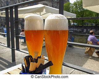 German weiss beer glass - A glass of German weiss aka weizen...