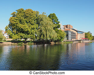 River Avon in Stratford upon Avon, UK