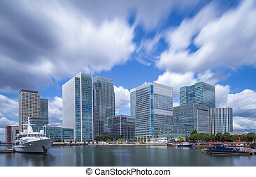 Skyscrapers of Canary Wharf, London