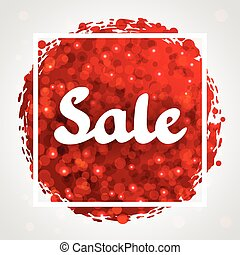 Sale red abstract background design with glitter