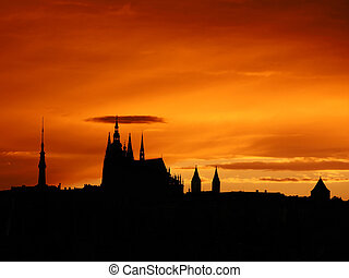 Prague sunset - Prague