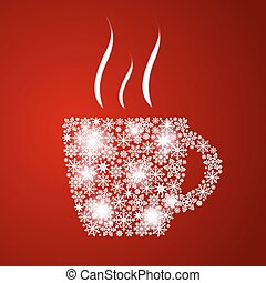 Christmas Coffee Cup Background Vector Illustration EPS10