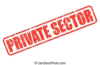 PRIVATE SECTOR red stamp text on white
