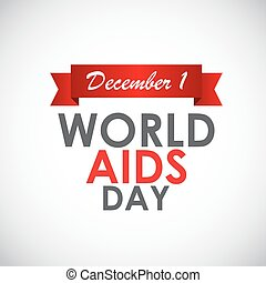 Red Ribon - Symbol of 21 December World AIDS Day Vector...