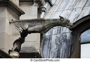 Gargoyle, in, Saint, Germain, l'Auxerrois, church
