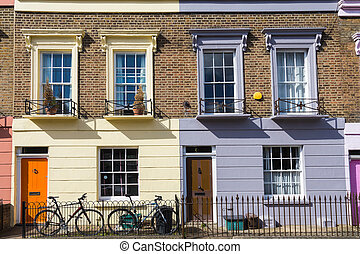 Colorful houses of Camden Town - London, United Kingdom
