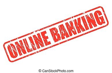 ONLINE BANKING red stamp text on white