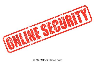 ONLINE SECURITY red stamp text on white