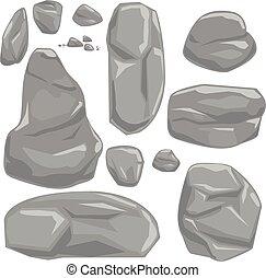 Stones vector set