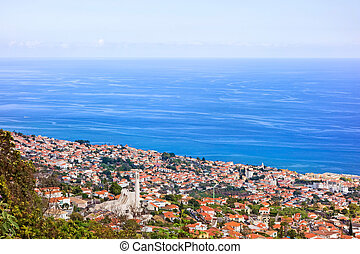 Funchal, Madeira - City of Funchal, Madeira - view towards...