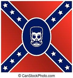 skull flag - man skull flag template theme vector art...