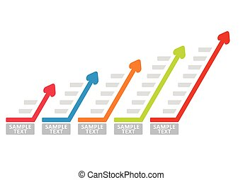 Business graph chart