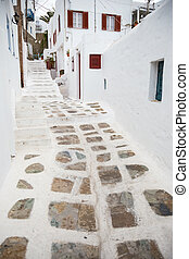 Traditional alley at Mykonos town