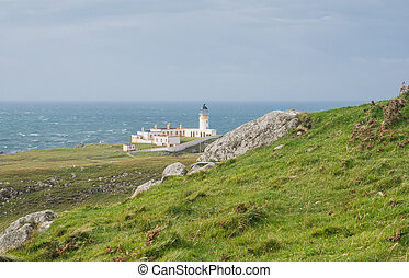 Lighthouse at West coast of Scotland - Lighthouse at Neist...