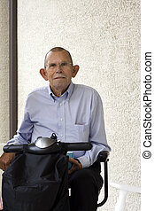 Senior on his Scooter