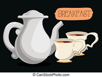 Breakfast food design - Breakfast concept with food design,...