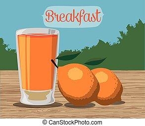 Breakfast food design - Breakfast concept with food design,...