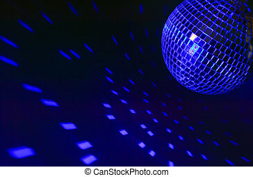 Disco ball with lights - There is a disco ball on background