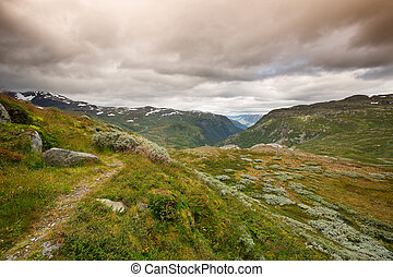 Landscape in Jotunheimen national park
