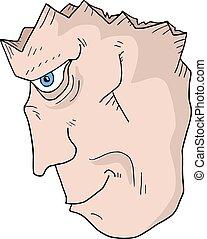 Broken face - Creative design of Broken face