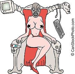 sensual imaginative woman
