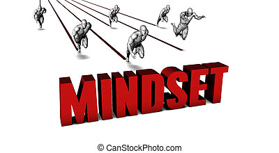 Better Mindset with a Business Team Racing Concept