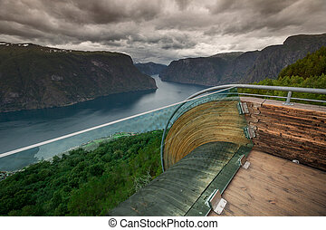 Viewpoint Snovegen at Aurlandsfjord