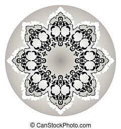 Antique ottoman turkish vector desi - black and white...