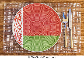 Dinner plate for Belarus - Dinner plate with the flag of...