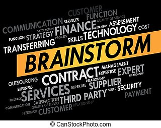 BRAINSTORM word cloud, business concept