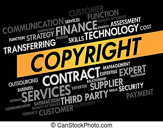 COPYRIGHT word cloud, business concept