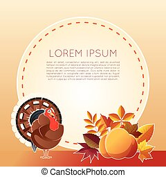 Thankgiving day banner - Vector image of the Thankgiving day...