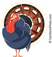 Cartoon smiling Turkey - Vector image of a happy cartoon...