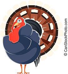 Cartoon smiling Turkey - Vector image of a happy cartoon...