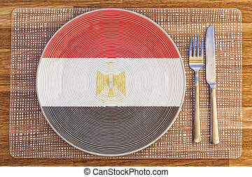 Dinner plate for Egypt - Dinner plate with the flag of Egypt...