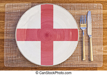 Dinner plate for England - Dinner plate with the flag of...