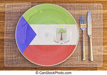 Dinner plate for Equatorial Guinea - Dinner plate with the...