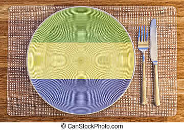 Dinner plate for Gabon - Dinner plate with the flag of Gabon...