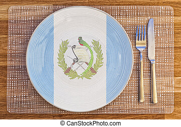 Dinner plate for Guatemala - Dinner plate with the flag of...