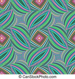 Repeating fractal pattern of striped happy colors