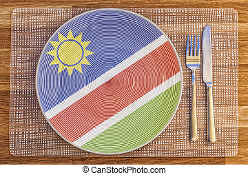Dinner plate for Namibia - Dinner plate with the flag of...