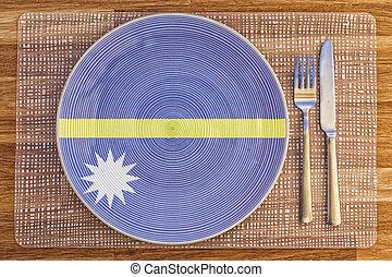 Dinner plate for Nauru - Dinner plate with the flag of Nauru...