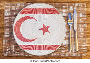 Dinner plate for Northern Cyprus - Dinner plate with the...