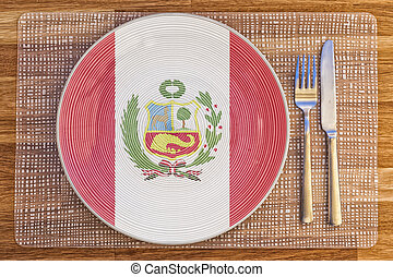Dinner plate for Peru - Dinner plate with the flag of Peru...
